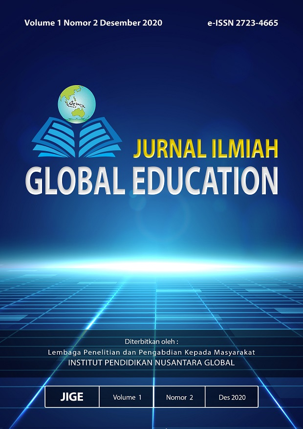 View JURNAL ILMIAH GLOBAL EDUCATION, Volume 1 Nomor 2, Desember 2020